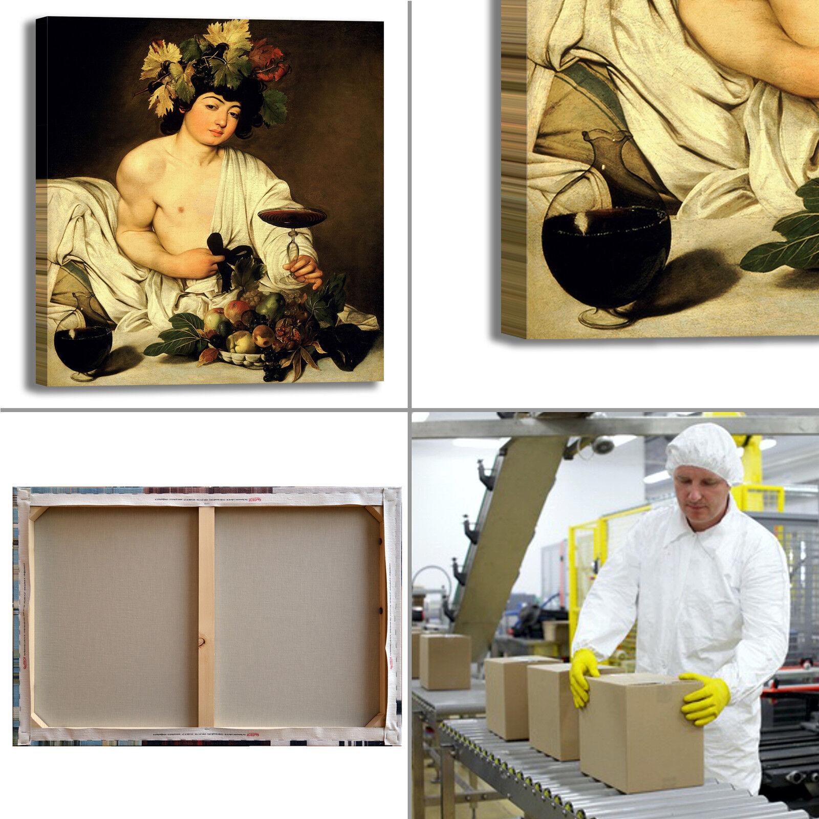 Caravaggio bacco design quadro stampa tela dipinto telaio arrossoo casa casa casa 24e29a