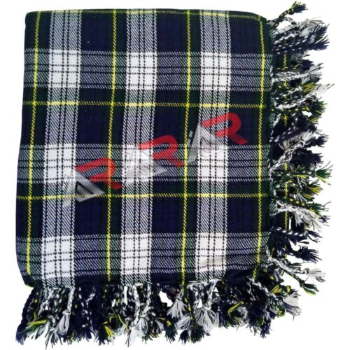 "Men Scottish Fly Plaid Tartan Highland Dress Gordon Kilt Piper 48/"" x 48/"" New AAR"