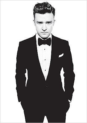Justin Timberlake Large Poster Art Print Black /& White Card or Canvas