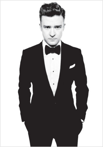 Justin Timberlake Large Poster Art Print Black /& White Card or Canvas
