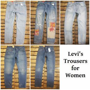 Levi-039-S-Jeans-501-501CT-Frauen-Original-Standard-Straight-Leg-Tapered-Leg-Trouser