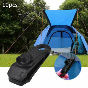 10 Pcs Tarp Clips Lock Grip Awning Clamp Windproof Fixed Instant Clip for Outdoor Camping Tent Accessories