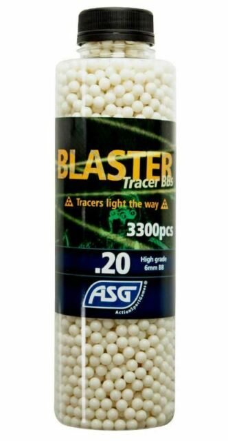 ASG Tracer 0.20 6mm BB/'s 3300 Latest New Style Bottles Airsoft Free Uk Delivery
