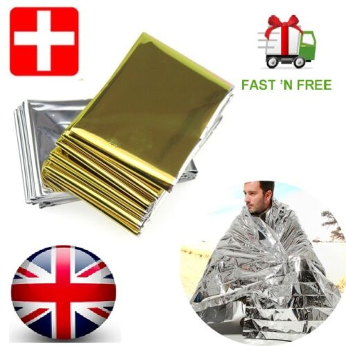Camping Portable Emergency Blanket First Aid Survival Rescue Outdoor Hiking Kits