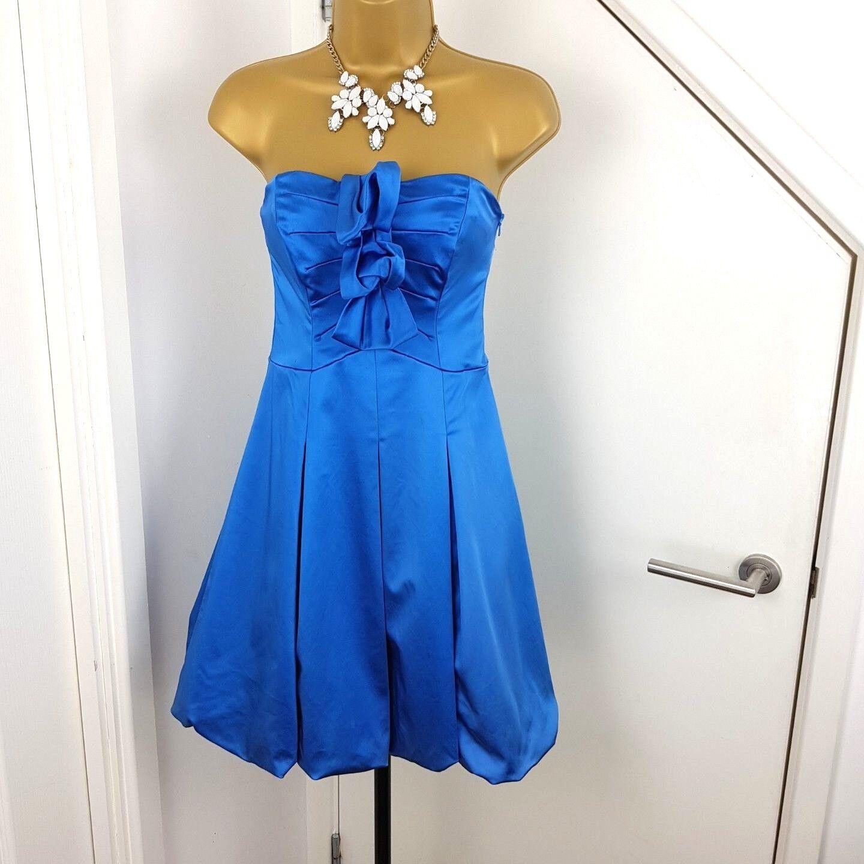 Coast Dress Midi Strapless Sleeveless Shining bluee Size