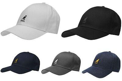 2019 Mens Branded Kangol Logo 6 Panel Baseball Cap Stiff Curved Peak Headwear HüBsch Und Bunt