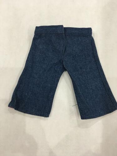 "Star Denim Capri Pants Fits 18/"" American Girl Doll Clothes Top Faux Pockets"