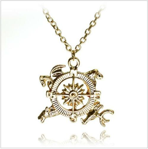 Game of Thrones Jewellery Hand of the King Compass Khaleesi Dragon Necklace