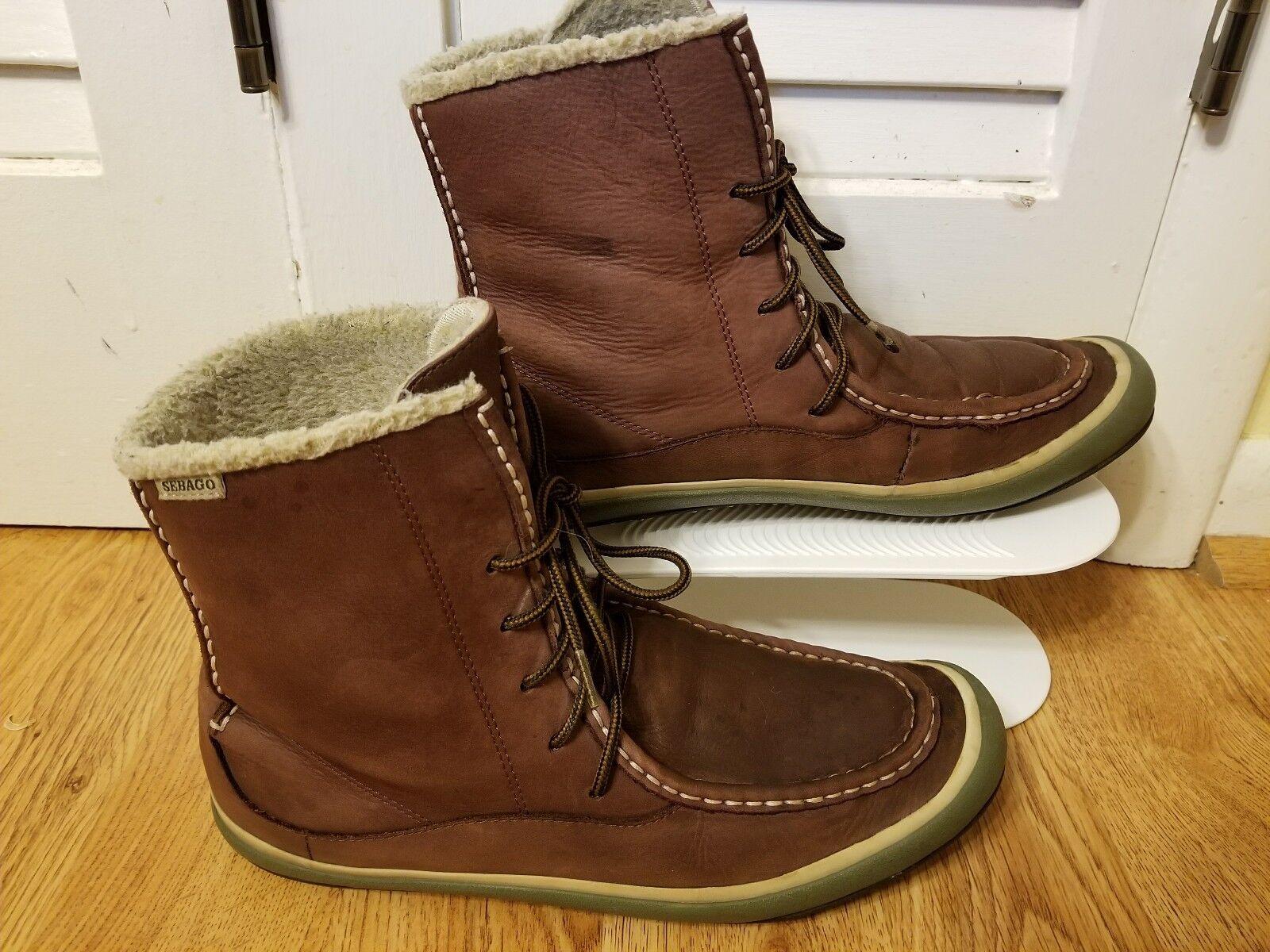 fantastica qualità Sebago Donna  Ankle Winter Winter Winter Leather stivali scarpe Dimensione 11M Marrone  colorways incredibili
