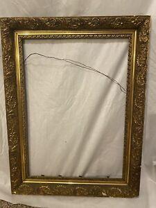 ORNATE ANTIQUE GOLD GESSO 3-PART FRAME 19 X 25 Wood Frame