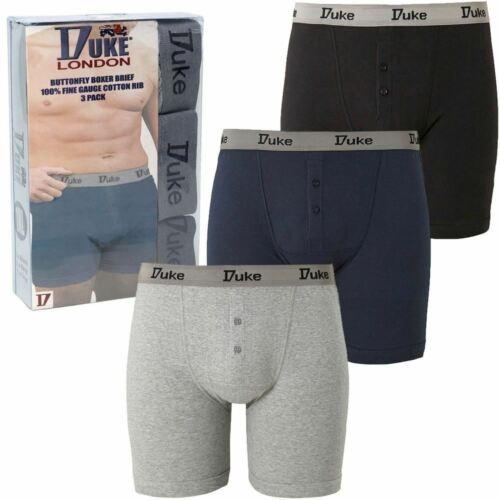 Mens Duke of London Pack of Three Cotton Boxer Shorts Plus Big King Size S-7XL