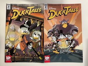 IDW DUCKTALES #2 : 2 COVERS BUNDLE : A + B : NM CONDITION