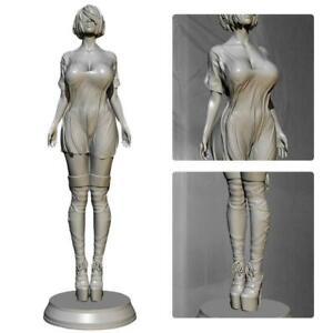 1-24-Resin-Figure-Model-Kit-Women-Soldier-Unpainted-I3D4