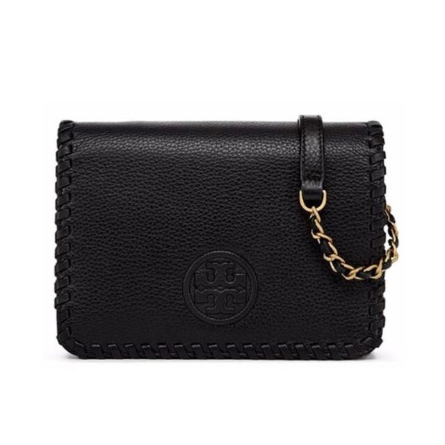 Tory Burch Marion Combo Crossbody Bag Black 51159762 New Leather 100 Authentic
