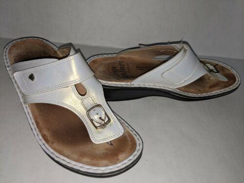 Finn Comfort Phuket Sandals Women's 38 White Buckl