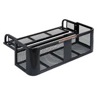 Atv Utv Universal Rear Drop Basket Rack Steel Cargo Hunting on sale
