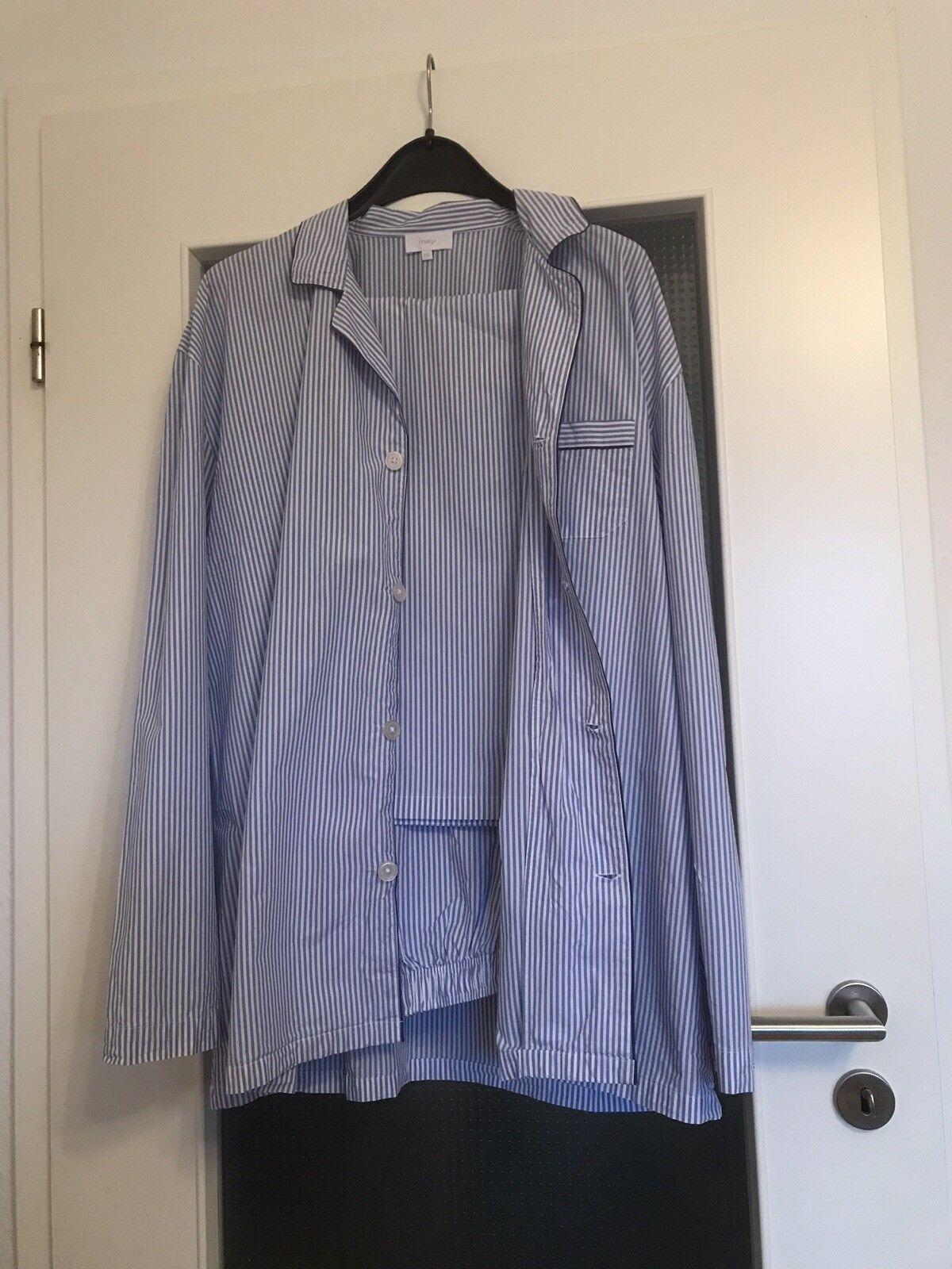 MEY Club Schlafanzug lang, Gr.56 (XXL), Farbe: Blau Celeste, 100% Baumwolle