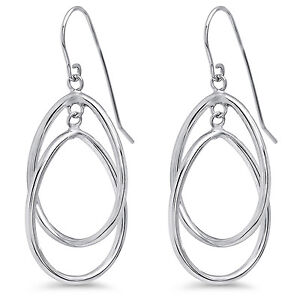 14k-White-Gold-Double-Circle-Dangle-Wire-Earrings-SKU-87988