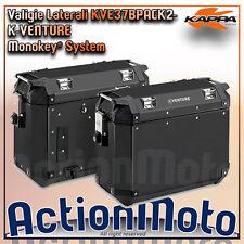 Coppia valigie laterali KAPPA KVE37B PACK2 MONOKEY 37 Litri Alluminio Nero