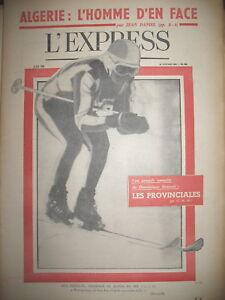 502-SKI-G-PERILLAT-ALGERIE-FERHAT-ABBAS-LES-PROVINCIALES-NABOKOV-L-039-EXPRESS-1961