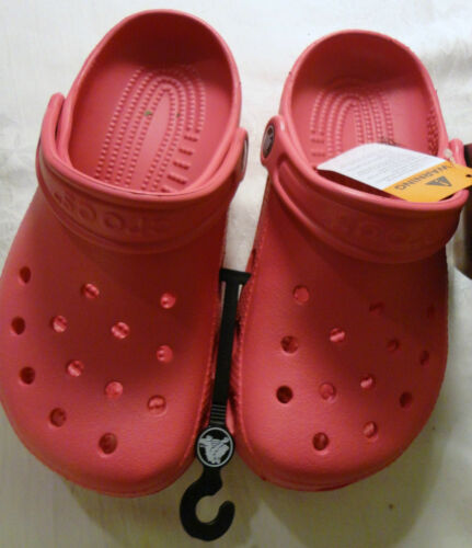KIDS SLIP ON CLOGS BLACK YELLOW NEW WITH TAG CROCS YOUTH PINK