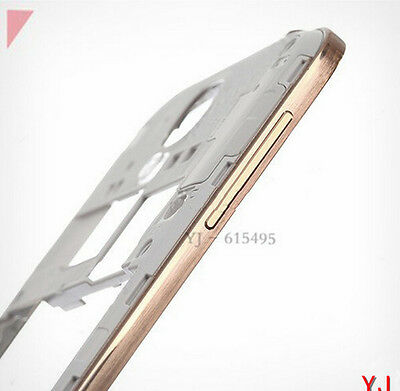 For Samsung Galaxy S4 I9500 Mid Frame Back Bezel Frame Rear Housing Plate -Gold