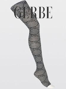 Collants fantaisie GERBE LUDIQUE Noir/Belladone ou Noir/Blanc. Fashion tights.