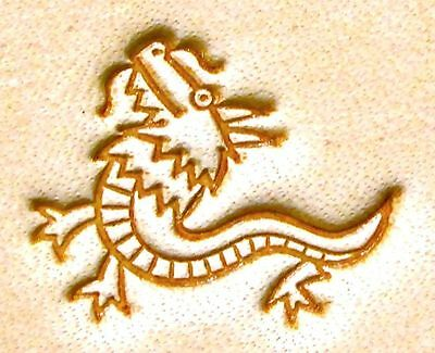 Leathercraft Tool Chrome Leather PMC Stamp Dragon 14mm x 18mm E664