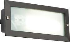 Knightsbridge IP44 9W PL a basso consumo energetico Nero bricklight x1
