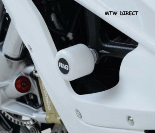 2013 R/&G RACING RACE STYLE  WHITE CRASH PROTECTORS BMW S1000RR