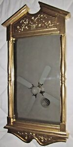 VINTAGE-Homco-Dart-Wall-Mirror-Syroco-Resin-Framed-2011-Gold-Floral-Etchings