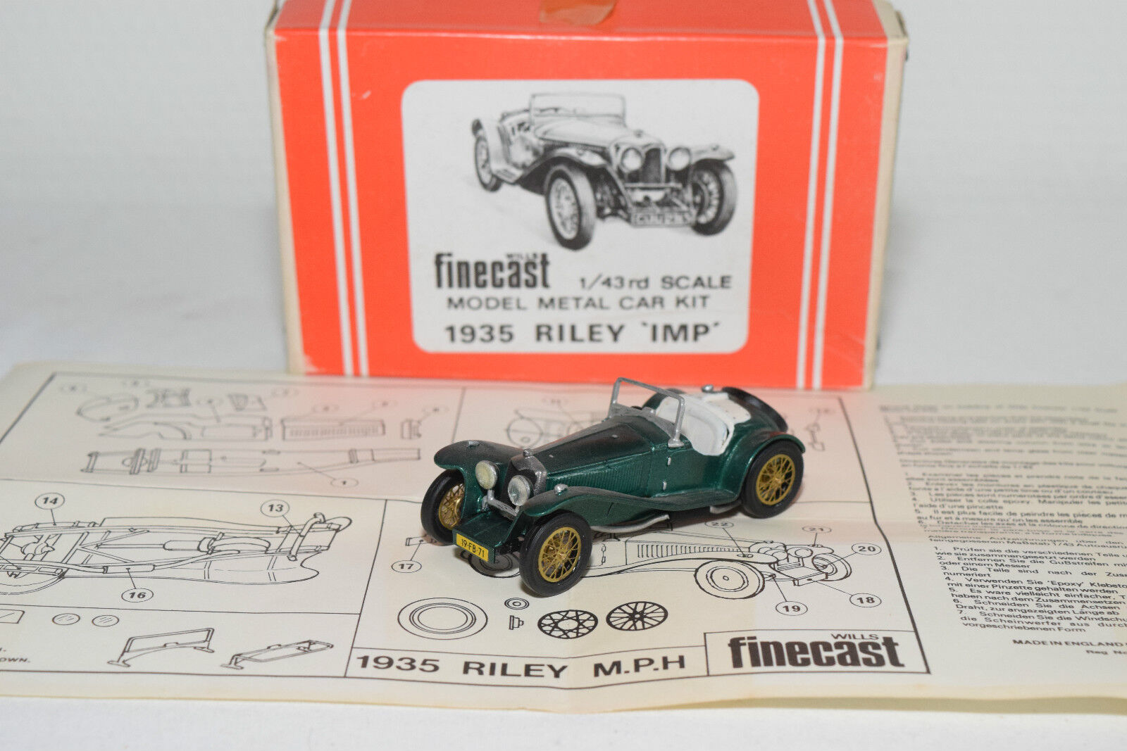 FINECAST WILLS KIT 1935 RILEY IMP METALLIC METALLIC METALLIC GREEN VN MINT BOXED RARE SELTEN 91fa7a