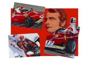 Art-card-Niki-Lauda-3-times-World-Champion-by-Toon-Nagtegaal-OE