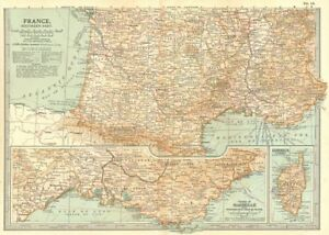 Map Of France With Key.Details About France South Shows Key Battles Dates Napoleonic Revolutionary Wars 1903 Map