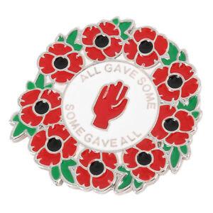 Enamel Poppy Badges Brooch Wreath Crystal Pin Badge Badge Valentines Gift Day