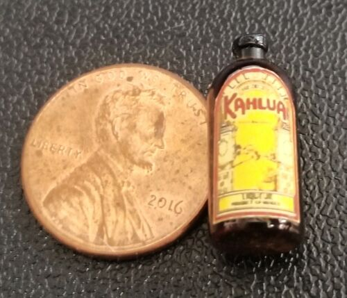 Dollhouse Miniature Bottle of Kahlua 1:12 Scale