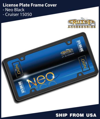 $15.00 2 Front Back Combo License Plate Frame Cover Cruiser 15050 Neo Black