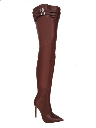 Cintura Stiefel Overknee Custom Pelle Marrone Ck Boots In 41 Couture RqU7Wwc6