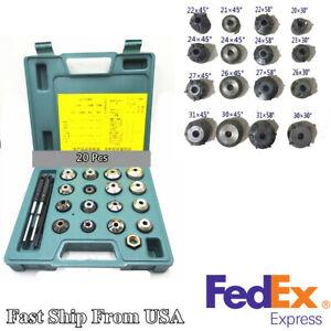 20-Pcs-Motorcycle-Valve-Seat-Reamer-Repair-Displacement-Cutter-Tool-Set-US-Stock