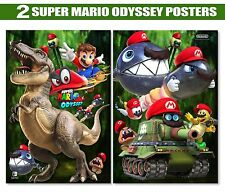 SUPER MARIO ODYSSEY Poster 13x19in W//Ur Name /& 3D Sparkles+FoamBoard Back
