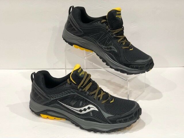 Saucony Grid Excursion TR9  Black Yellow Sneakers no box top