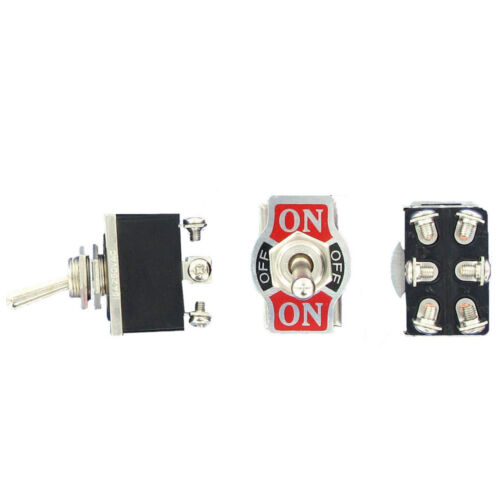 20A 125V DPDT 6 Terminal On//Off//On Toggle Switch Momentary WYS Sales