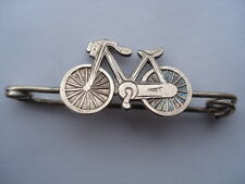 C1890S VINTAGE SILVER SAFETY BICYCLE SHAPE BAR PIN BROOCH