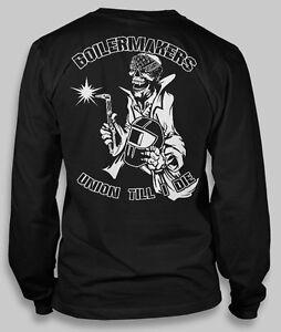 Union-Boilermakers-T-shirt-Men-all-sizes-Black-shirt-Long-Sleeve