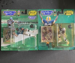 Fred Taylor Starting Lineup Figures Lot Of 2 1999 & 2000 Jacksonville Jaguars