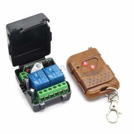 DC 12v 10A relay 2CH wireless RF Remote Control Switch Transmitter+ Receiver car
