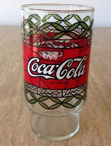 Vintage 1970s pizza hut coca cola tiffany style tumbler for Pizza in a mug without baking soda