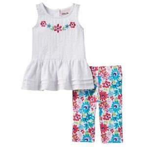 45762c5c13ce Baby Girl Little Lass Floral Eyelet Top   Capri Leggings Set -24 ...