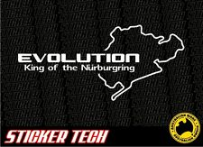 KING OF THE NURBURGRING STICKER DECAL SUITS MITSUBISHI EVO LANCER 10 GSR 5 6 7 8