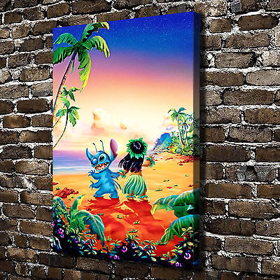 HD Print Home Art Decor Painting Disney Mickey Minnie Fishing on Canvas 12x16